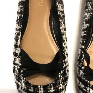 Lane Bryant Shoes - Lane Bryant Houndstooth Flat with Bow Size 9W